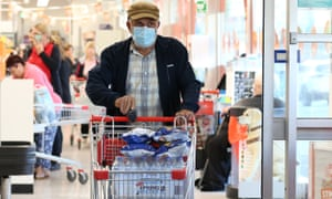 """Shoppers are seen at Coles in Earlwood, in Sydney, Wednesday, March 18, 2020. Coles will on Wednesday hold its first """"community hour"""" for seniors and pension card holders from 7am at its stores nationwide, before opening to everyone else. (AAP Image/Danny Casey) NO ARCHIVING"""