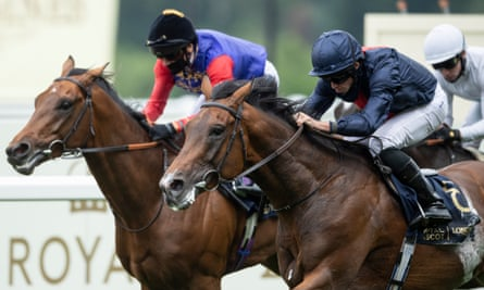 Russian Emperor (right) beats First Receiver in the Hampton Court Stakes at Royal Ascot.