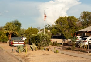 Tucson homes in the evening sun in late August.