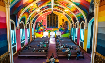 High hopes: members of the congregation in the Church of Cannabis.