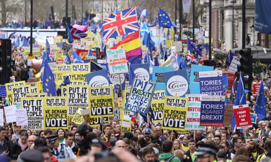 Anti-Brexit protest in London, 23 March 2019.