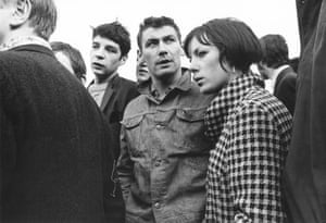 Supporters of the Rev Ian Paisley in Derry, Northern Ireland, October 1968.