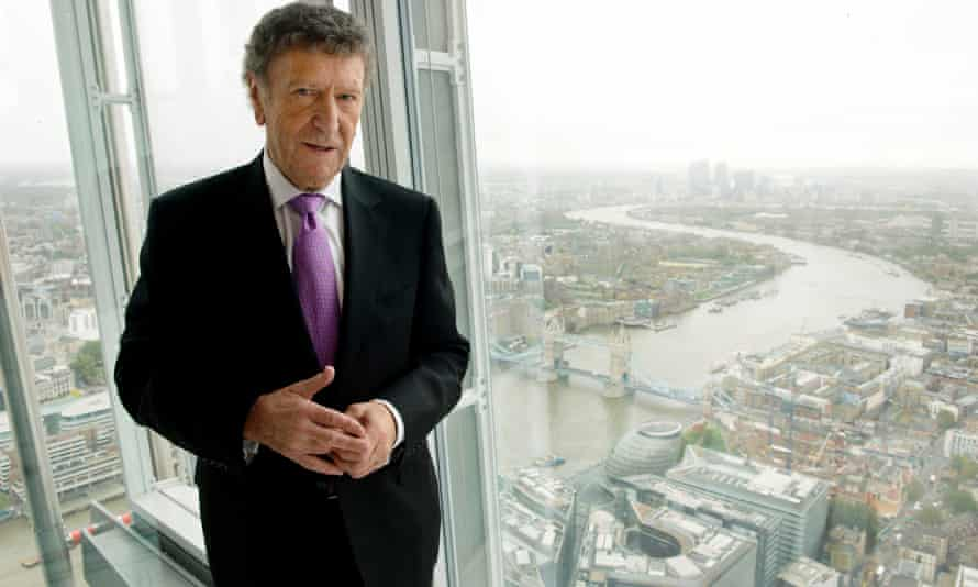 Irvine Sellar on the viewing platform on the 69th floor of the Shard, London, in 2012.
