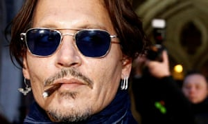 Johnny Depp leaves the high court in London on 26 February this year.
