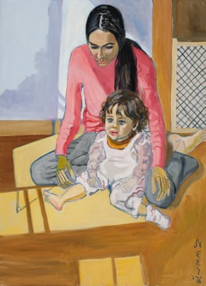 Ginny and Elizabeth, 1976 by Alice Neel.