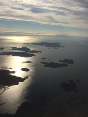 Sitka Sound from the air