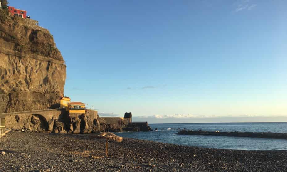 The beach at Ponta do Sol, Madeira