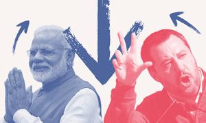 Narendra Modi and Matteo Salvini