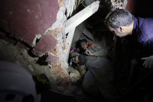 Officials said there were bodies buried in the rubble
