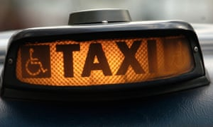 taxi cab sign on