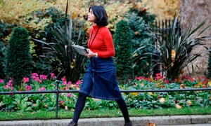 Munira Mirza, head of the No 10 policy unit, in Downing Street today.