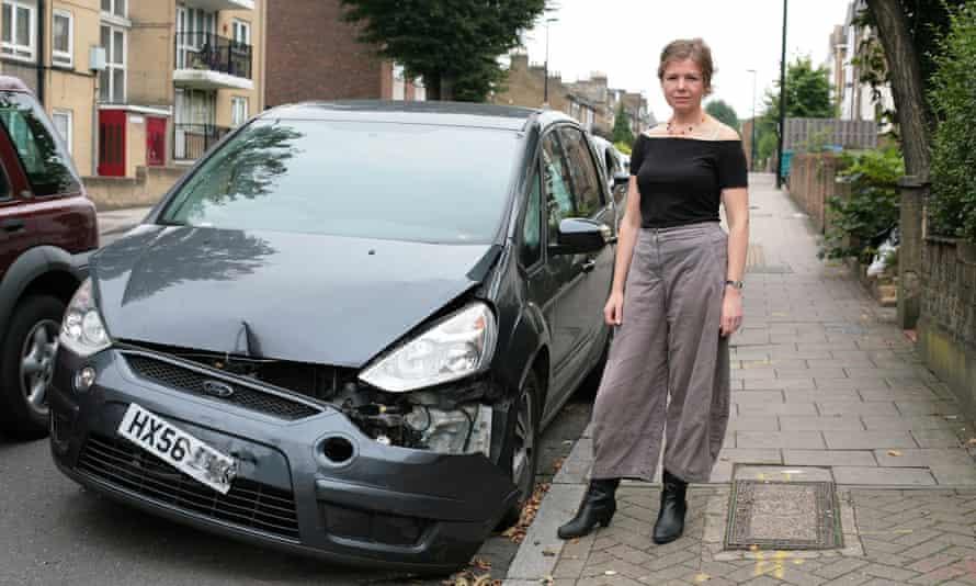 Jacqueline Green's smashed car