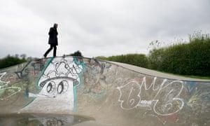 Skate park in Central Park, Dartford.