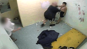 A screengrab of historical abuses against juvenile prisoners at Don Dale youth detention centre.
