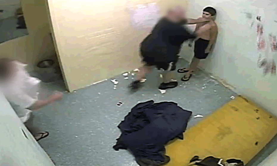 A screengrab of historical abuses against juvenile prisoners at Don Dale Youth Detention Centre in Berrimah, NT, Australia. The footage was obtained by ABC's Four Corners and was screened in July 2016.