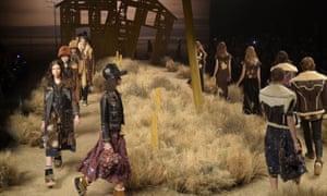 Model on the catwalk Coach show, Runway, Fall Winter 2017, New York Fashion Week