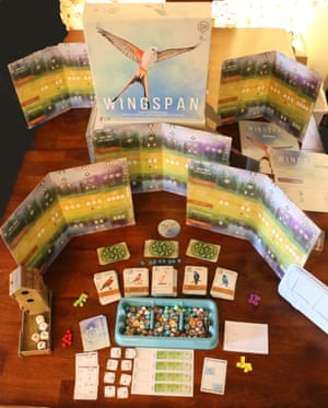 wingspan board game out of the box