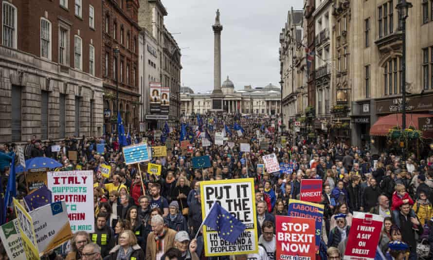 The Put it to the People march in London, March 2018