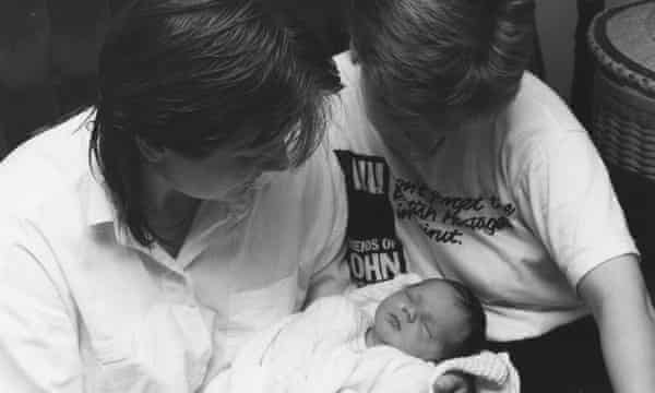 Jesse and her two mothers, Peta Stewart and Sandi Toksvig.