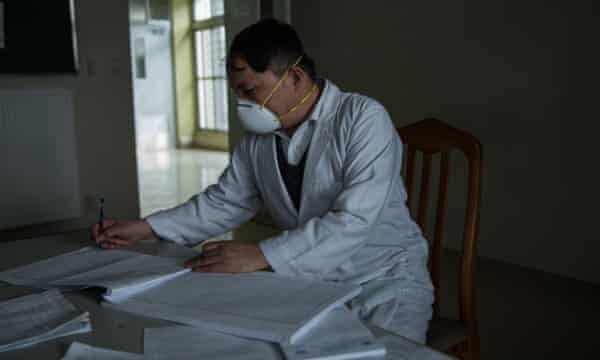 Dr Mohammed Khan at the Afghan-Japan Communicable Disease Hospital in Kabul.