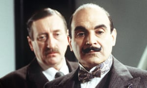 Philip Jackson as Chief Inspector Japp and David Suchet as Hercule Poirot in the 1999 TV adaptation of The Murder of Roger Ackroyd.