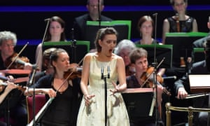 soprano Rosa Feola performs with Le Cercle de l'Harmonie during Prom 9 at the Royal Albert Hall, London.