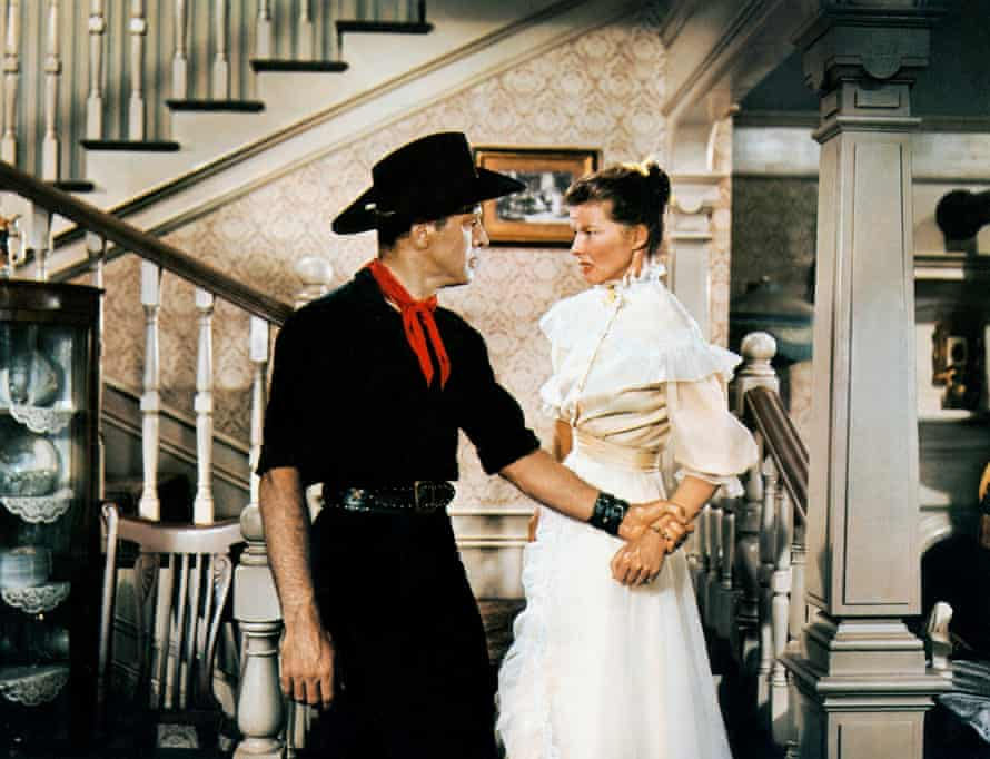 Burt Lancaster and Hepburn in The Rainmaker