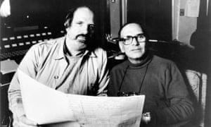 Ennio Morricone and Brian De Palma on set of The Untouchables, 1987