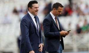Graeme Smith (left), pictured here with Michael Vaughan, has become South Africa's director of cricket on a temporary basis