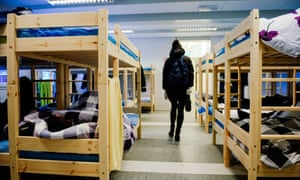 An arrival centre for refugees in northern Norway, November 2015.