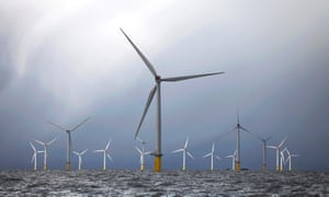 Wind turbines at the London Array project. The UK attracted the lion's share of new investment.