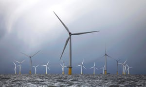 Wind turbines in the Thames estuary