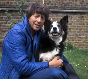 John Noakes with the Blue Peter dog Shep