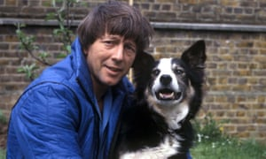 John Noakes in 1978 with Blue Peter dog Shep.