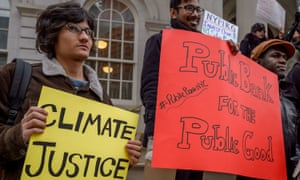 A rally at City Hall calls on NYC to divest public money from banks that fuel climate change and to establish a municipal public bank to help fund the transition to a just, sustainable economy.