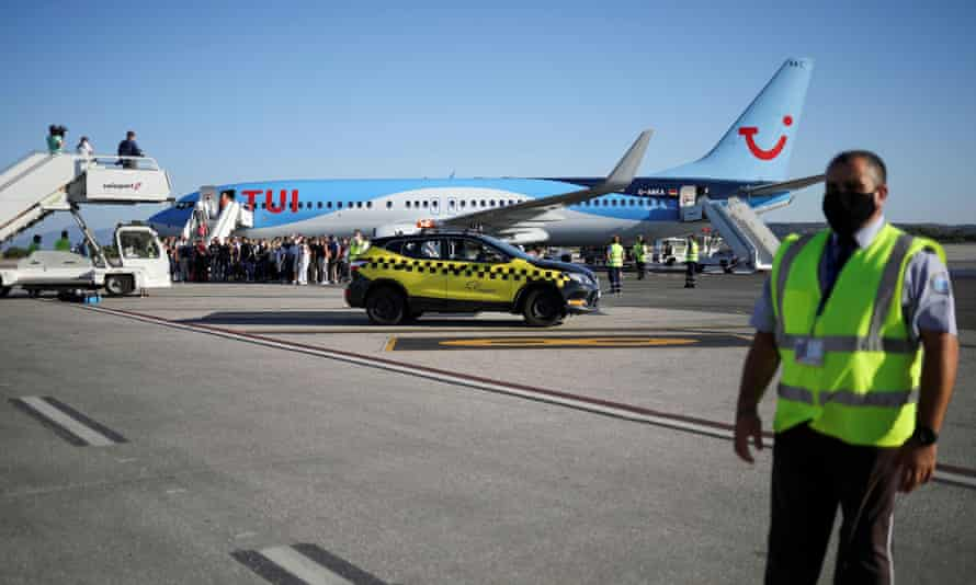 A Tui Airways flight in Greece.
