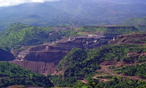 The Gibe III dam under construction in Ethiopia's Omo valley.