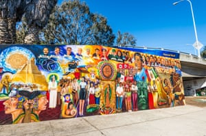 A historical mural at Chicano Park, San Diego. Oportun has sued more than 6,500 people in San Diego county since 2017.