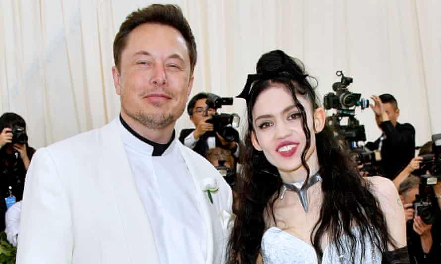 Elon Musk and pop star Grimes attend last spring's Met Gala, in New York.