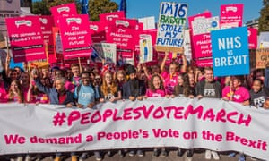 People's vote march, London October 2018