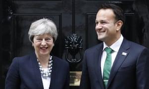 Theresa May and Irish taoiseach Leo Varadkar