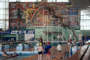 'Olympus' Swimming Pool Tolyatti, Russia: Built in 1985Situated in the Togliatti car factory district, the 'Universal' sports complex of which this swimming pool is part, is decorated with brightly coloured mosaics.