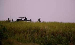 Soldiers in Virunga national park