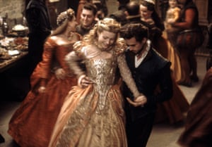 Gwyneth Paltrow and Joseph Fiennes in Shakespeare in Love.