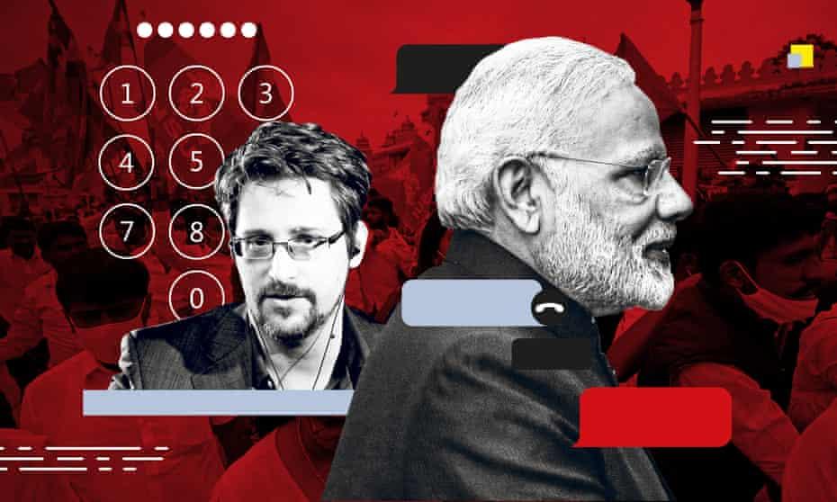 Edward Snowden and Narendra Modi.