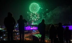 Edinburgh is expected to celebrate the new year with fireworks launched in the countdown to midnight.