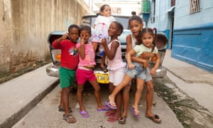 Cuban children on the street in Havana.