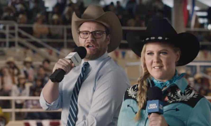Best buds: Seth Rogen and Amy Schumer in their Bud Light ad.