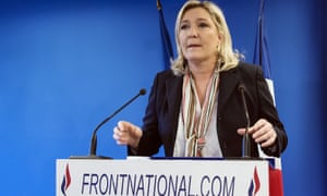 French Front National far-right party's Marine Le Pen