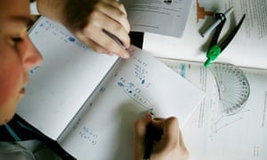 Boy Studying Mathematics